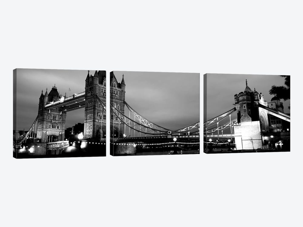Tower Bridge, London, United Kingdom by Panoramic Images 3-piece Canvas Print