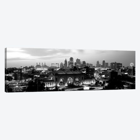 Union Station At Sunset With City Skyline In Background, Kansas City, Missouri, USA Canvas Print #PIM15259} by Panoramic Images Art Print