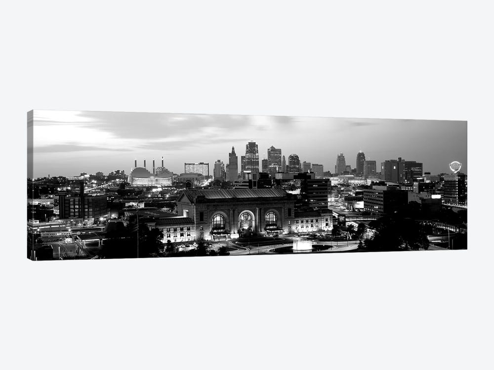 Union Station At Sunset With City Skyline In Background, Kansas City, Missouri, USA by Panoramic Images 1-piece Canvas Art Print