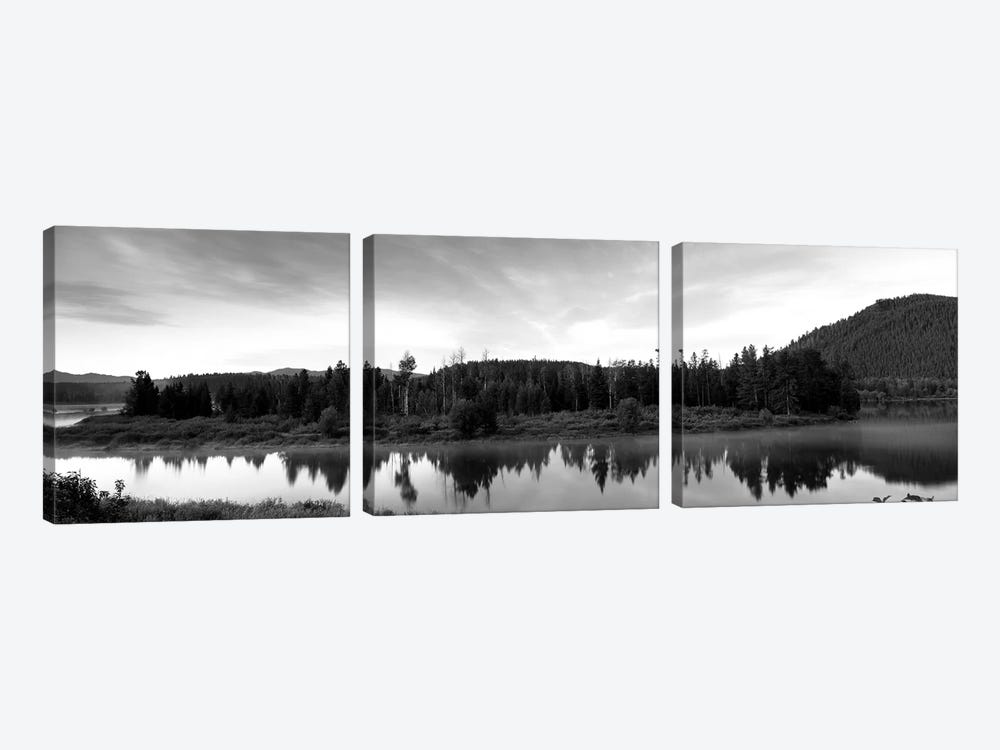 USA, Wyoming, Grand Teton Park, Ox Bow Bend by Panoramic Images 3-piece Canvas Art Print