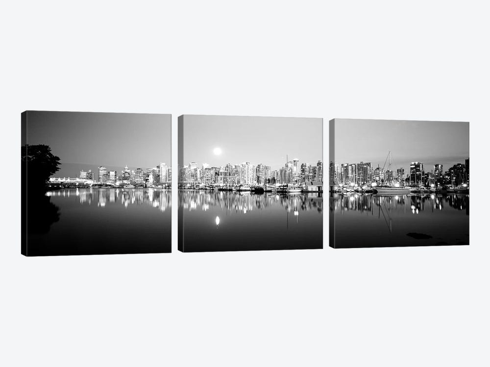 Vancouver Skyline, British Columbia, Canada by Panoramic Images 3-piece Canvas Art