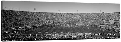 View Of A Football Stadium Full Of Spectators, Los Angeles Memorial Coliseum, City Of Los Angeles, California, USA Canvas Art Print