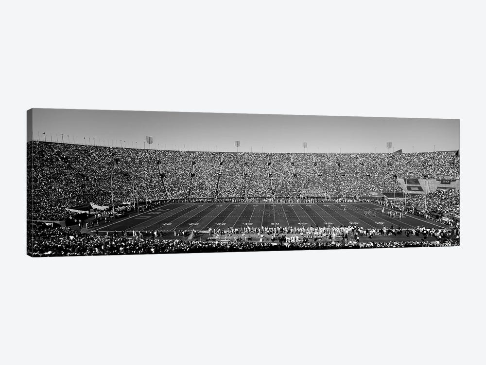 View Of A Football Stadium Full Of Spectators, Los Angeles Memorial Coliseum, City Of Los Angeles, California, USA by Panoramic Images 1-piece Canvas Wall Art