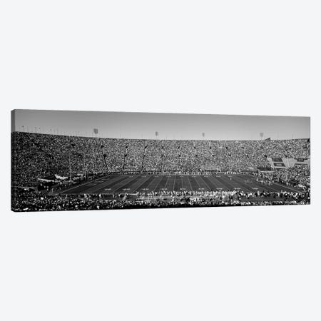 View Of A Football Stadium Full Of Spectators, Los Angeles Memorial Coliseum, City Of Los Angeles, California, USA 3-Piece Canvas #PIM15263} by Panoramic Images Canvas Art