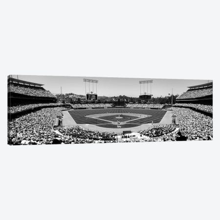 View Of Spectators Watching A Baseball Match, Dodgers Vs. Angels, Dodger Stadium, Los Angeles, California, USA 3-Piece Canvas #PIM15264} by Panoramic Images Canvas Print
