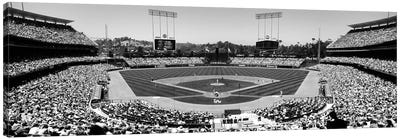 View Of Spectators Watching A Baseball Match, Dodgers Vs. Angels, Dodger Stadium, Los Angeles, California, USA Canvas Art Print