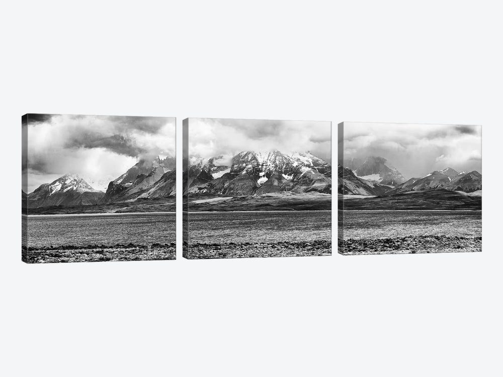 View Of The Sarmiento Lake In Torres Del Paine National Park, Patagonia, Chile by Panoramic Images 3-piece Canvas Art