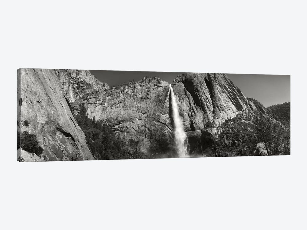 Water Falling From Rocks In A Forest, Bridalveil Fall, Yosemite Valley, Yosemite National Park, California, USA by Panoramic Images 1-piece Canvas Print