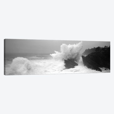 Waves Breaking On The Coast, Shore Acres State Park, Oregon, USA Canvas Print #PIM15268} by Panoramic Images Canvas Art