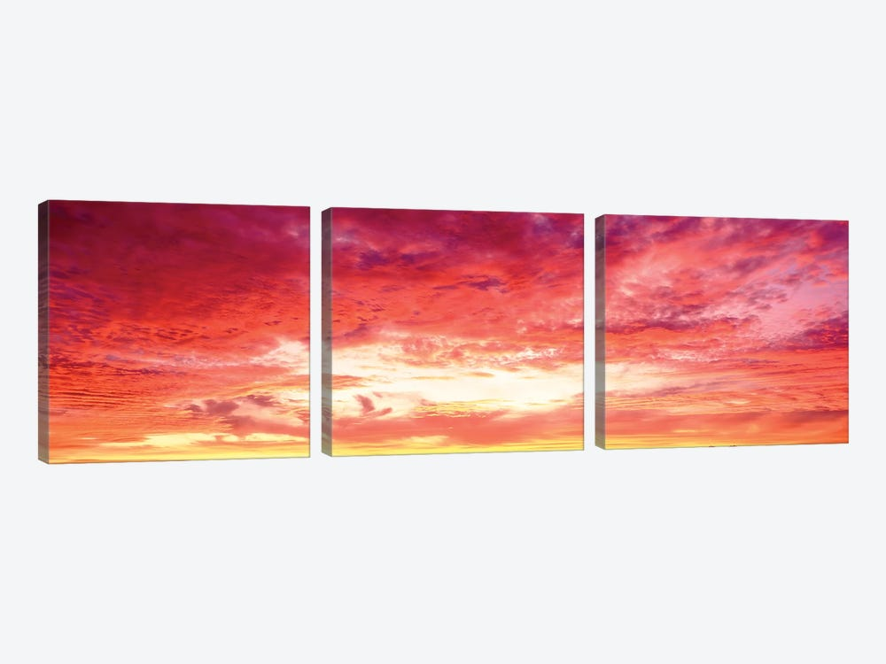 Brazil, Atlantic, Sunset by Panoramic Images 3-piece Canvas Art