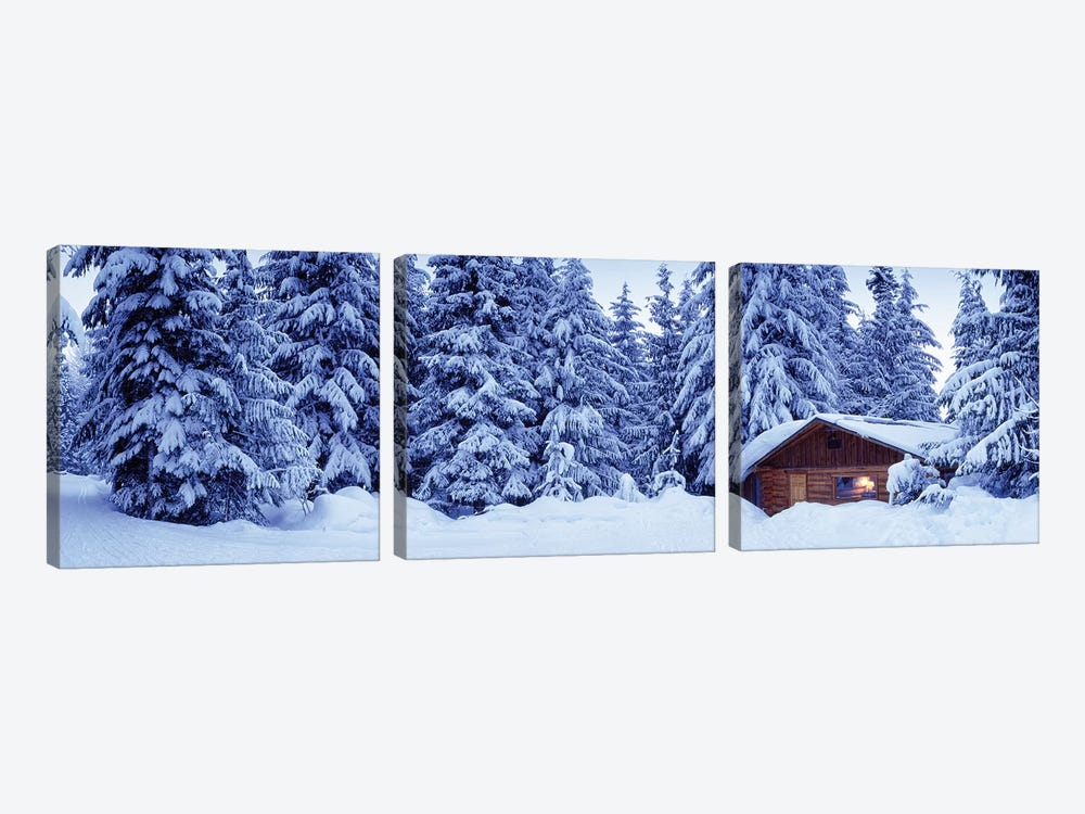 Lost Lake Cabin, British Columbia, Canada by Panoramic Images 3-piece Canvas Art Print