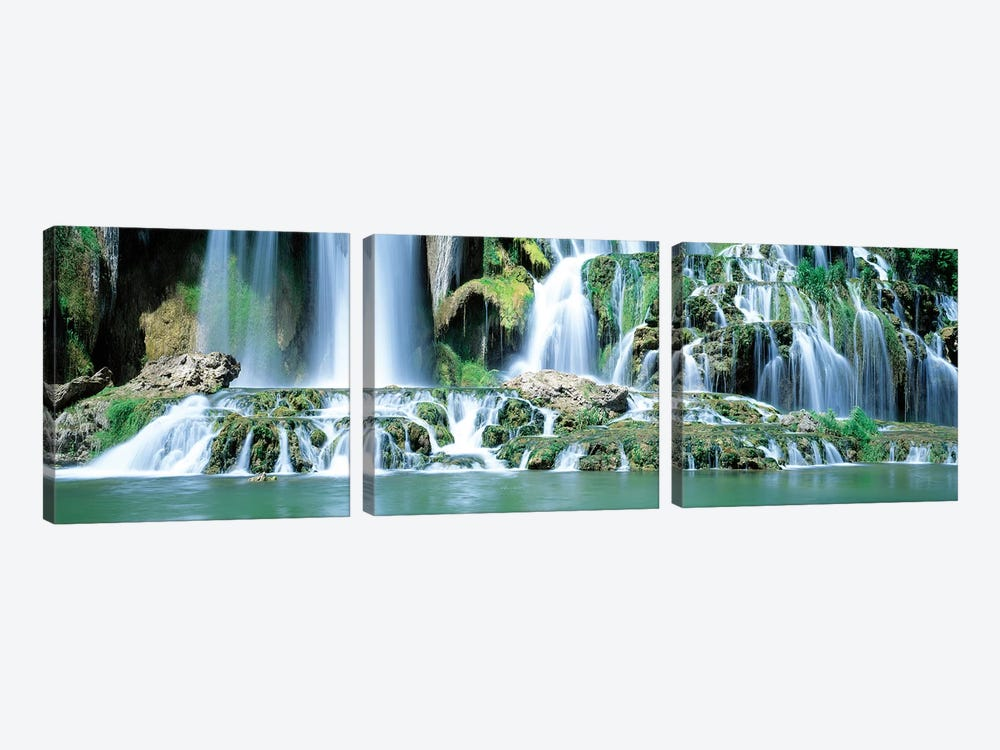 Snake River Waterfall Bonneville County ID USA by Panoramic Images 3-piece Canvas Artwork