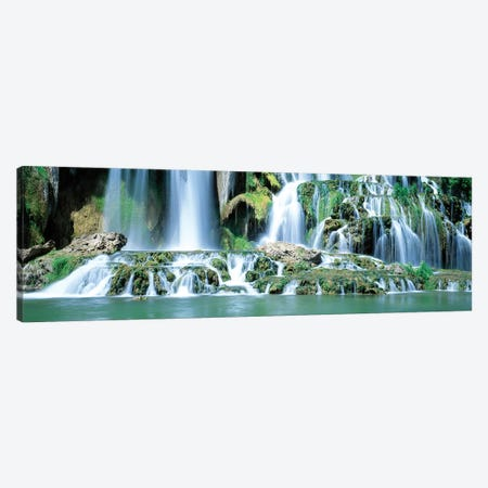 Snake River Waterfall Bonneville County ID USA Canvas Print #PIM15278} by Panoramic Images Canvas Art Print