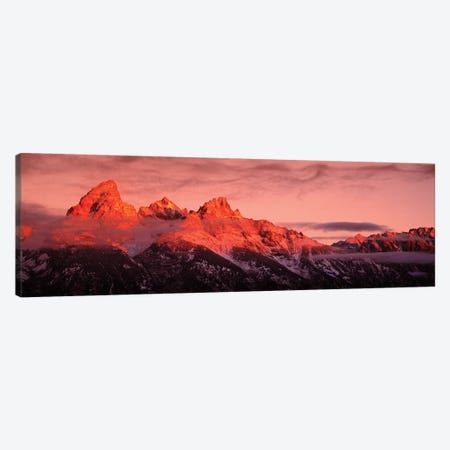Sunrise, Teton Range, Grand Teton National Park, Wyoming, USA Canvas Print #PIM15279} by Panoramic Images Art Print