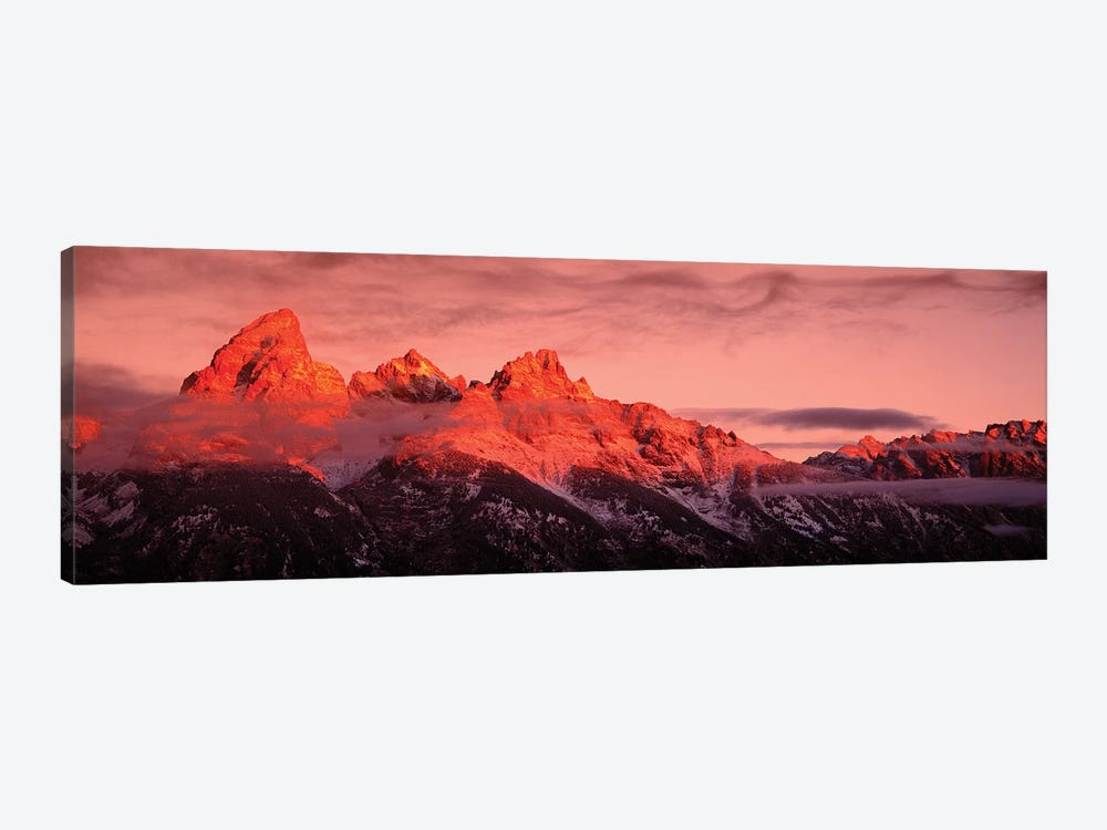 Sunrise, Teton Range, Grand Teton National Park, Wyoming, USA by Panoramic Images 1-piece Art Print