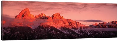 Sunrise, Teton Range, Grand Teton National Park, Wyoming, USA Canvas Art Print