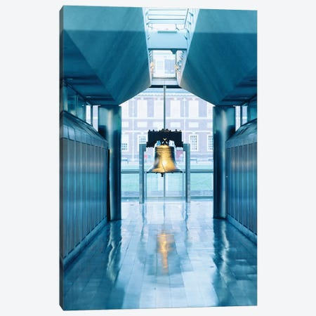 Liberty Bell Hanging In A Corridor, Independence Hall, Philadelphia, PA, USA Canvas Print #PIM15284} by Panoramic Images Art Print