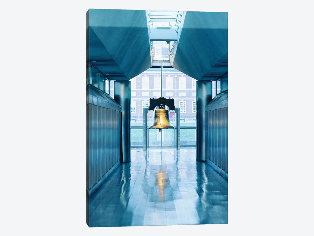 Liberty Bell Hanging In A Corridor, Independence Hall, Philadelphia, PA, USA by Panoramic Images 1-piece Canvas Art Print