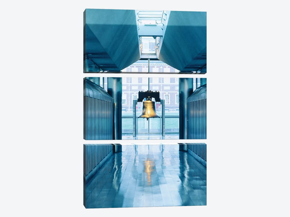 Liberty Bell Hanging In A Corridor, Independence Hall, Philadelphia, PA, USA by Panoramic Images 3-piece Canvas Art Print