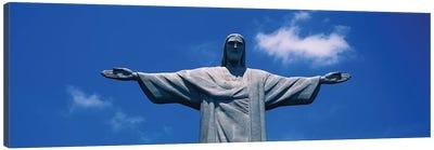 Low Angle View Of The Christ The Redeemer Statue, Corcovado, Rio De Janeiro, Brazil Canvas Art Print