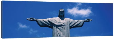 Low Angle View Of The Christ The Redeemer Statue, Corcovado, Rio De Janeiro, Brazil Canvas Art Print