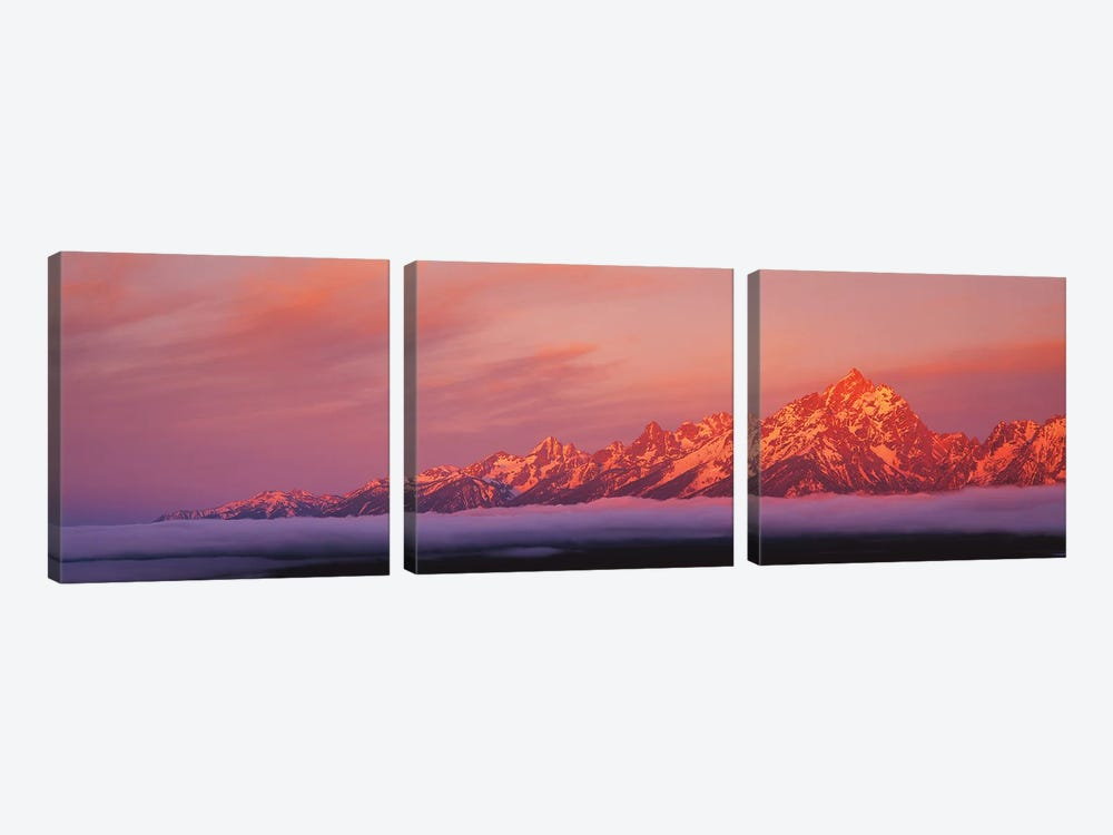 Teton Range, Grand Teton National Park, Wyoming, USA by Panoramic Images 3-piece Canvas Print