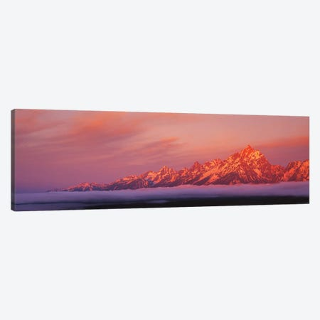 Teton Range, Grand Teton National Park, Wyoming, USA Canvas Print #PIM15286} by Panoramic Images Canvas Print
