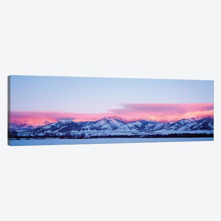 Bridger Mountains, Sunset, Bozeman, MT, USA Canvas Print #PIM15290} by Panoramic Images Canvas Art Print