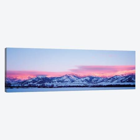 Bridger Mountains, Sunset, Bozeman, MT, USA Canvas Print #PIM15290} by Panoramic Images Canvas Art Print