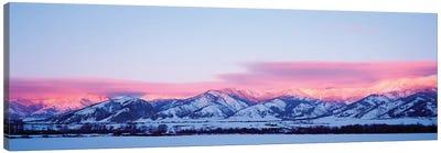 Bridger Mountains, Sunset, Bozeman, MT, USA Canvas Art Print
