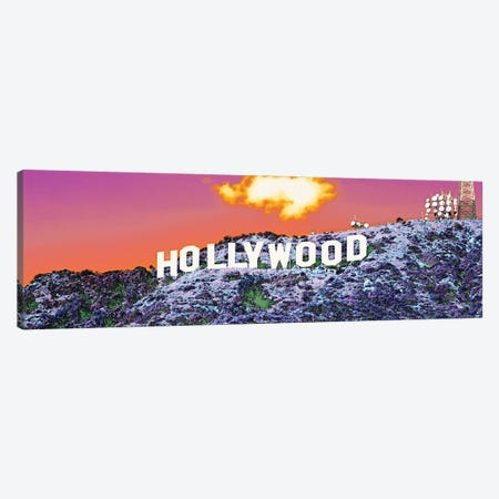 Hollywood Sign CA 3-Piece Canvas #PIM15294} by Panoramic Images Canvas Wall Art