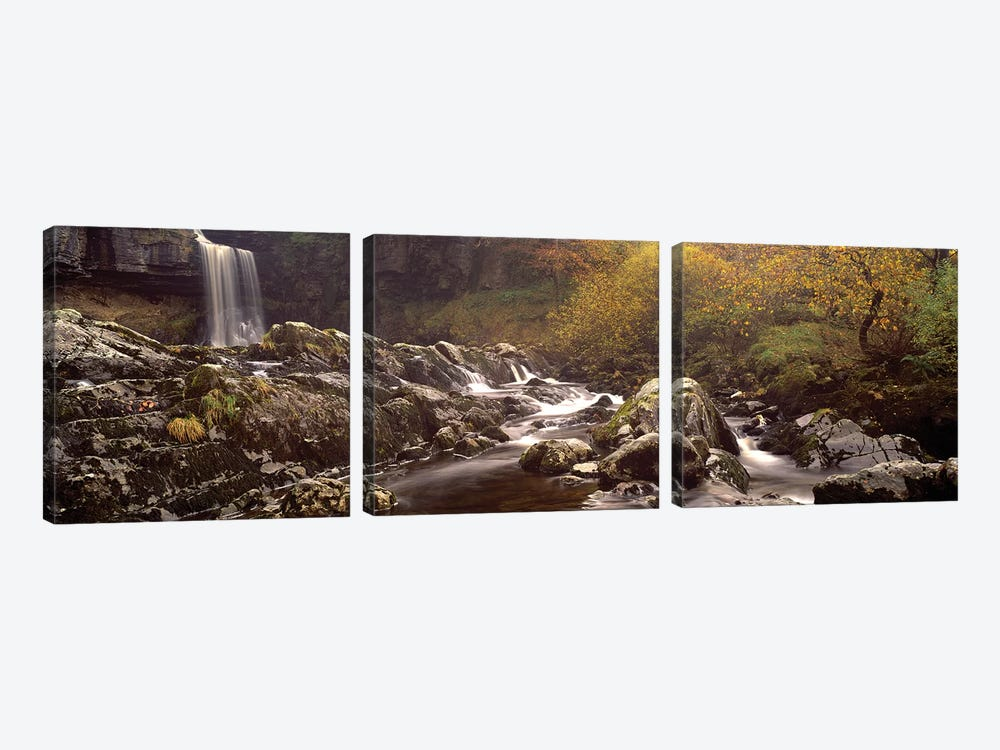Water Falling On Rocks, Thornton Force, Ingleton, Yorkshire Dales, Yorkshire, England, U.K. by Panoramic Images 3-piece Art Print