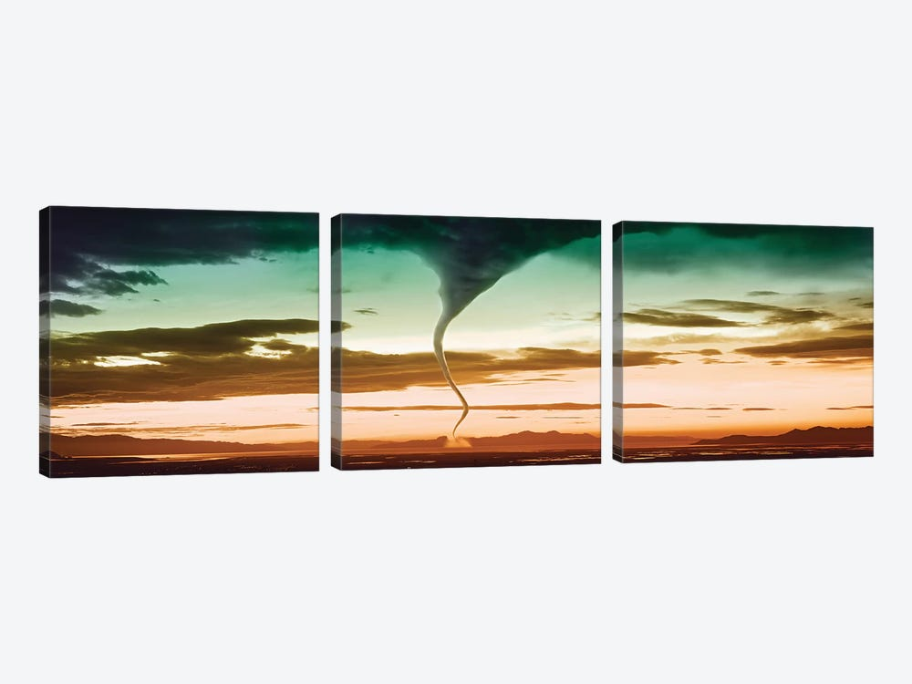 Tornado In The Sky 3-piece Canvas Artwork