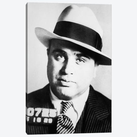 1920s Prison Mug Shot Of Chicago Gangster Scarface Al Capone Canvas Print #PIM15315} by Panoramic Images Art Print
