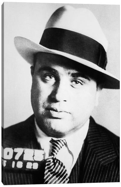 1920s Prison Mug Shot Of Chicago Gangster Scarface Al Capone Canvas Art Print