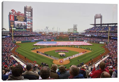 Opening Day 2008 Ceremonies At Citizen Bank Park Philadelphia, PA, USA Canvas Art Print