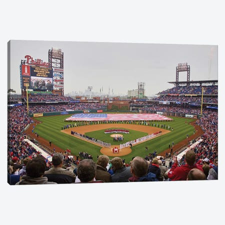 Opening Day 2008 Ceremonies At Citizen Bank Park Philadelphia, PA, USA Canvas Print #PIM15316} by Panoramic Images Canvas Art Print