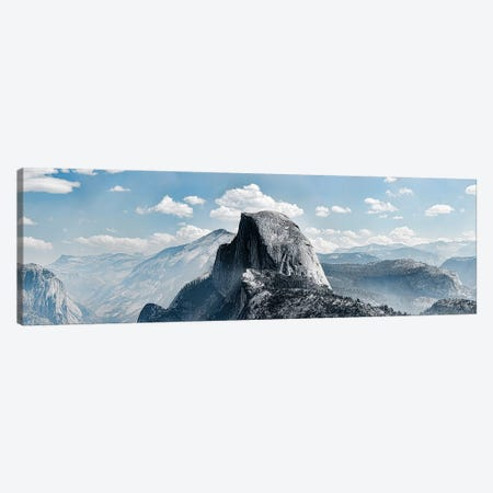 Scenic View Of Rock Formations, Half Dome, Yosemite Valley, Yosemite National Park, CA, USA 3-Piece Canvas #PIM15318} by Panoramic Images Canvas Wall Art