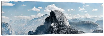 Scenic View Of Rock Formations, Half Dome, Yosemite Valley, Yosemite National Park, CA, USA Canvas Art Print