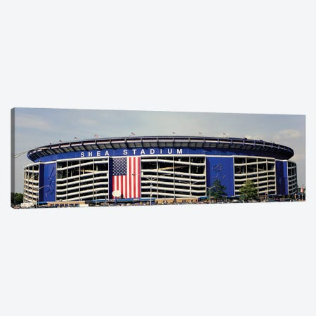 Facade Of Shea Stadium, Queens, New York City, NY, USA Canvas Print #PIM15320} by Panoramic Images Canvas Art Print