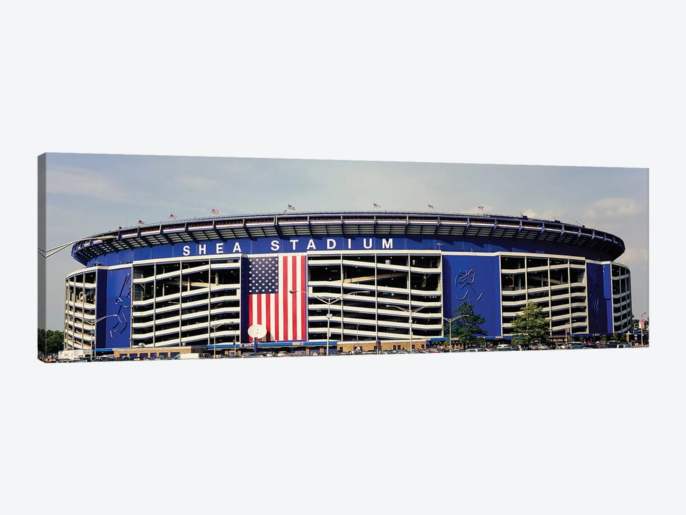Facade Of Shea Stadium, Queens, New York City, NY, USA by Panoramic Images 1-piece Canvas Wall Art