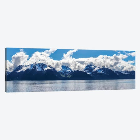 Scenic View Of Mountain Range, Resurrection Bay, Kenai Peninsula, Seward, AK, USA 3-Piece Canvas #PIM15322} by Panoramic Images Canvas Print