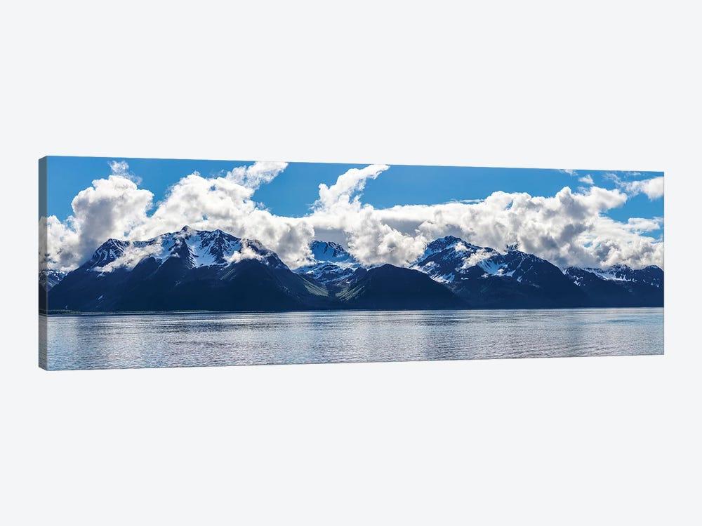 Scenic View Of Mountain Range, Resurrection Bay, Kenai Peninsula, Seward, AK, USA by Panoramic Images 1-piece Canvas Artwork