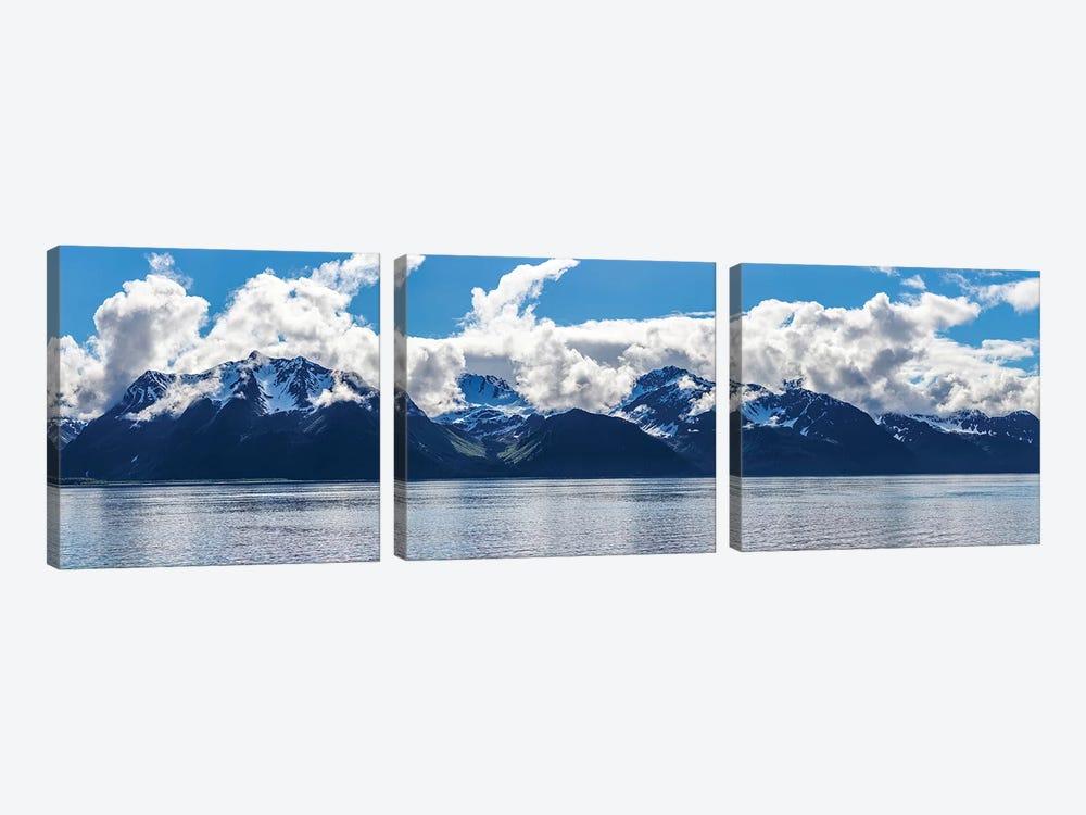 Scenic View Of Mountain Range, Resurrection Bay, Kenai Peninsula, Seward, AK, USA by Panoramic Images 3-piece Canvas Art