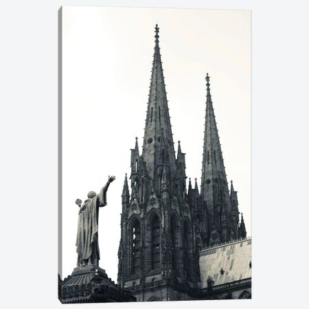 Low Angle View Of A Cathedral, Cathedrale Notre-Dame-De-L'Assomption, Clermont-Ferrand, Auvergne, Puy-De-Dome, France Canvas Print #PIM15328} by Panoramic Images Canvas Art Print