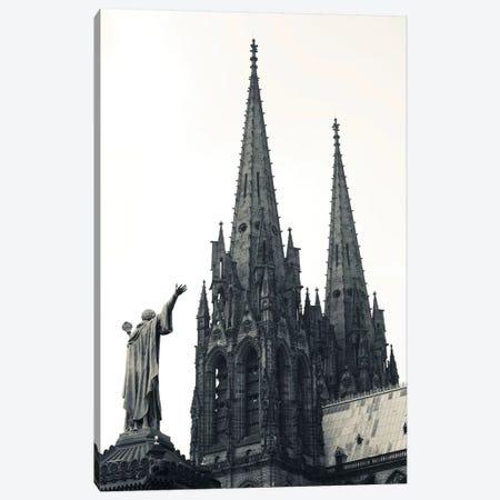 Low Angle View Of A Cathedral, Cathedrale Notre-Dame-De-L'Assomption, Clermont-Ferrand, Auvergne, Puy-De-Dome, France Canvas Print #PIM15328} by Panoramic Images Canvas Art Print