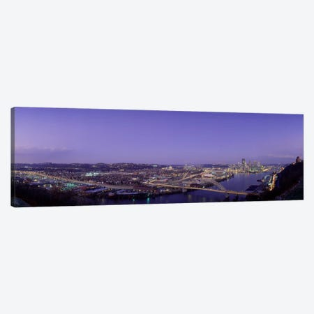 Aerial view of a city, Pittsburgh, Allegheny County, Pennsylvania, USA Canvas Print #PIM1532} by Panoramic Images Canvas Print