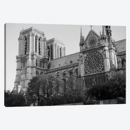 Low Angle View Of A Cathedral, Notre Dame, Paris, Ile-De-France, France Canvas Print #PIM15330} by Panoramic Images Canvas Artwork