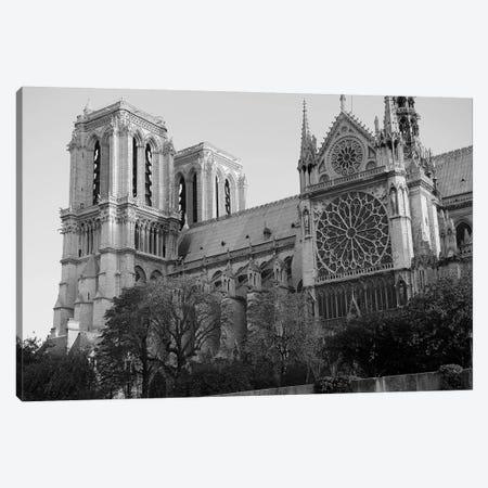 Low Angle View Of A Cathedral, Notre Dame, Paris, Ile-De-France, France Canvas Print #PIM15330} by Panoramic Images Canvas Artwork