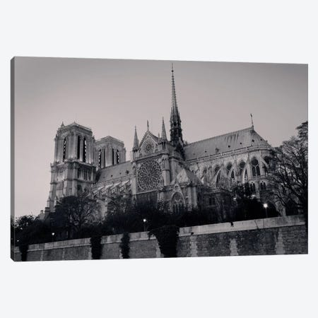 Low Angle View Of A Cathedral, Notre Dame, Paris, Ile-De-France, France Canvas Print #PIM15332} by Panoramic Images Canvas Art